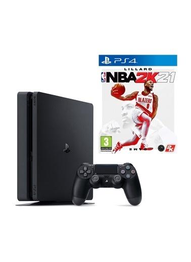 Sony PS4 Slim 1 Tb Oyun Konsolu + PS4 NBA 2K21 Siyah